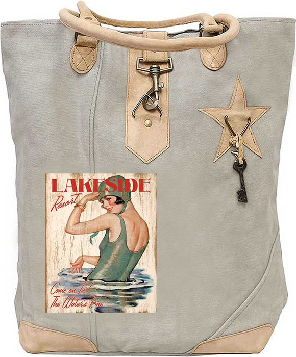 Lakeside Resort Canvas Tote - Vintage Addiction