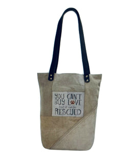 Vintage Addiction You Can't Buy Love.. Military Tote