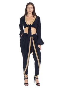 TOP & PANT SET BLACK