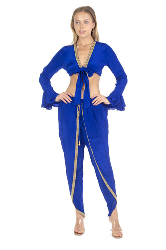 TOP & PANT SET ROYAL BLUE