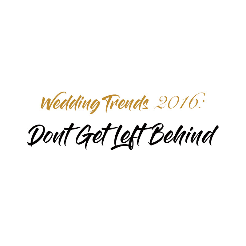 2016 Sparkler Wedding Trends