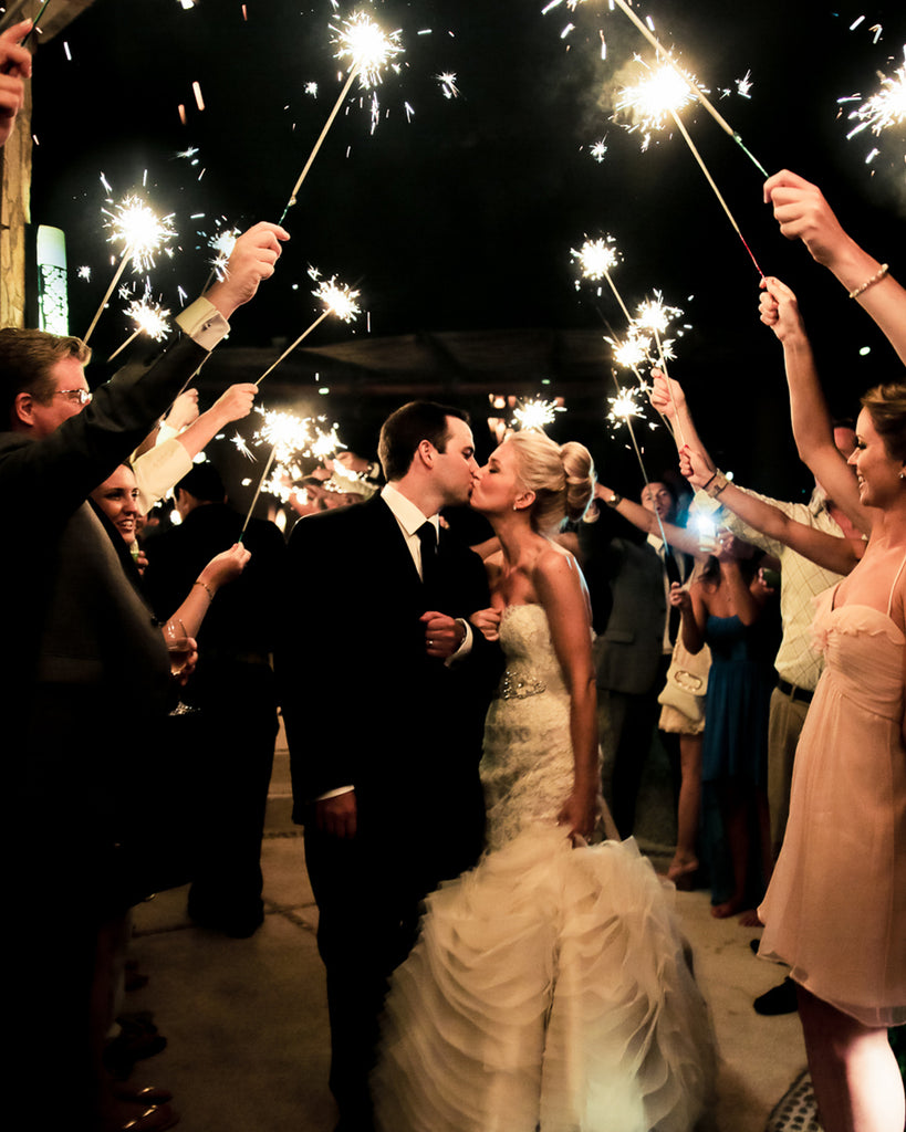 Emerging Wedding Trends Including Sparklers
