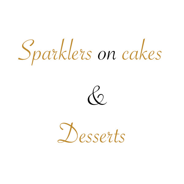 Sparklers On Cakes And Desserts