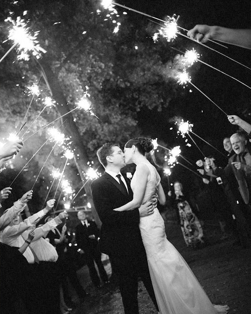 Wedding planning with sparklers