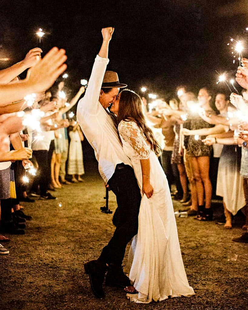 Photographer Tips for Sparklers at Weddings