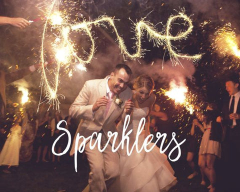 Using Sparklers For Wedding Exit