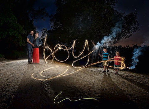 Sparklers for Gender Reveal