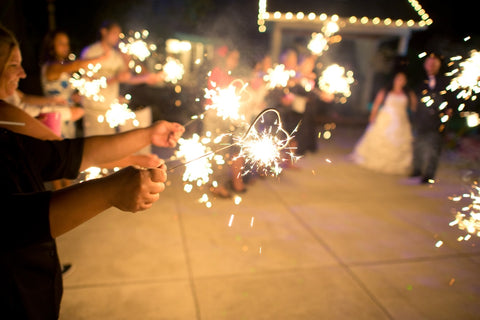 Wedding Exit Heart Sparklers