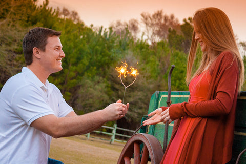 Romantic Heart Sparklers