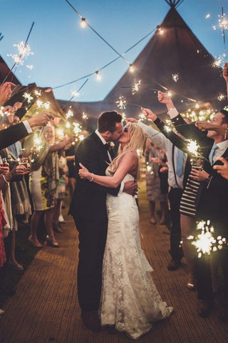 Wedding Sparklers and Your Dress