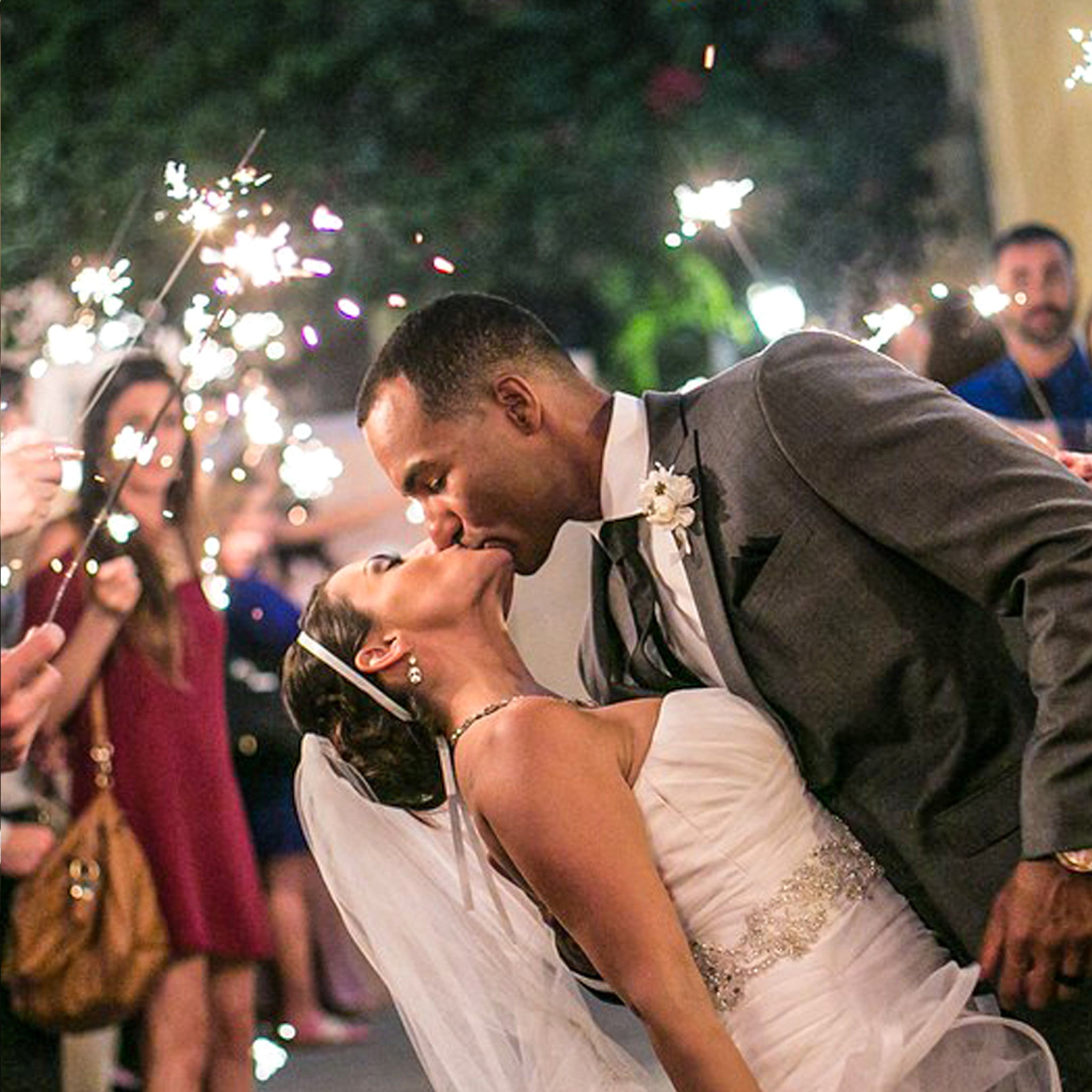 """GREAT FOR FAVORS 20/"""" WEDDING SPARKLERS 48 PIECES DECORATIVE WEDDING PACKAGE"""