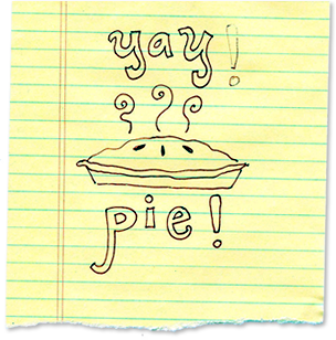 Original YAY! PiE! drawing from YAY! LiFE!