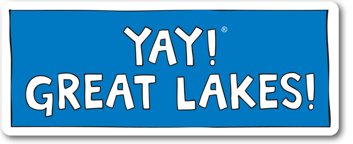 YAY! GREAT LAKES! Sticker