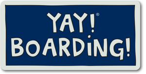 YAY! BOARDING! magnet