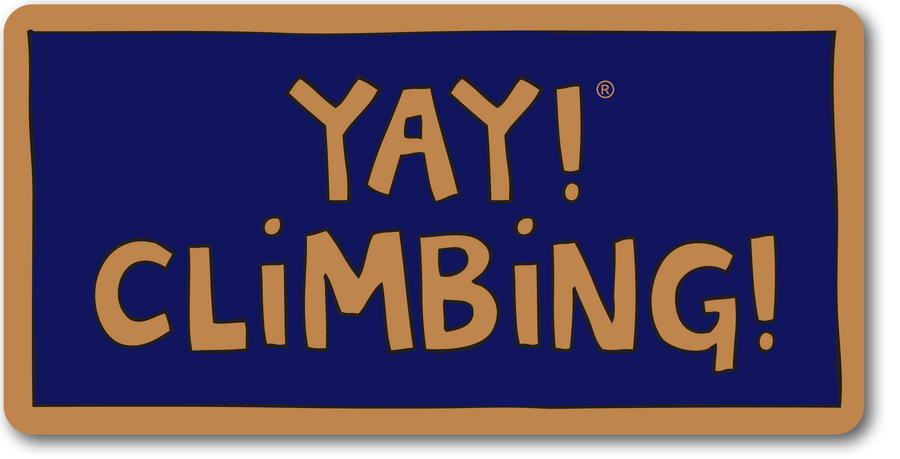 YAY! CLIMBING! magnet