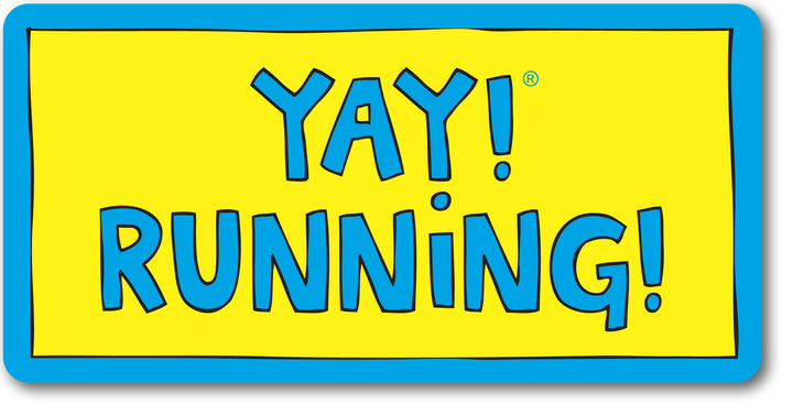 YAY! RUNNING! sticker