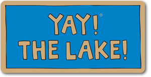 YAY! THE LAKE! magnet