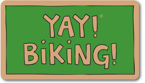 YAY! BIKING! Sticker