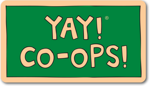 YAY! CO-OPS! Sticker