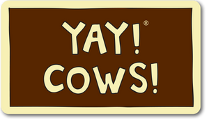 YAY! COWS! magnet