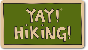YAY! HIKING! Sticker