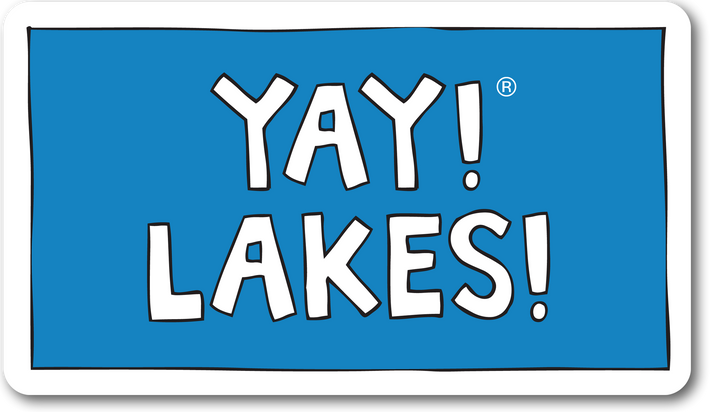 YAY! LAKES! Sticker