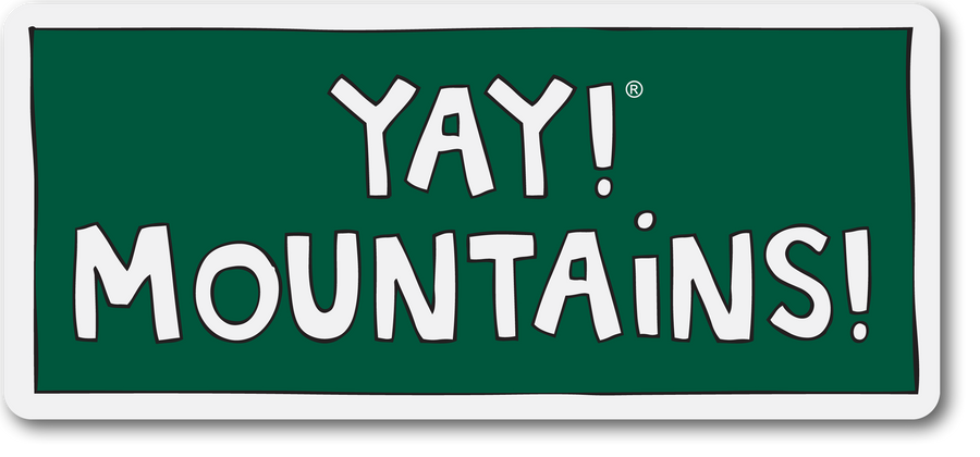 YAY! MOUNTAINS! Sticker