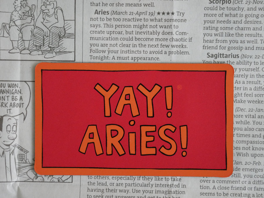 YAY! ARIES! Magnet