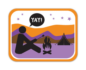 YAY! PICTO CAMPING! STICKER