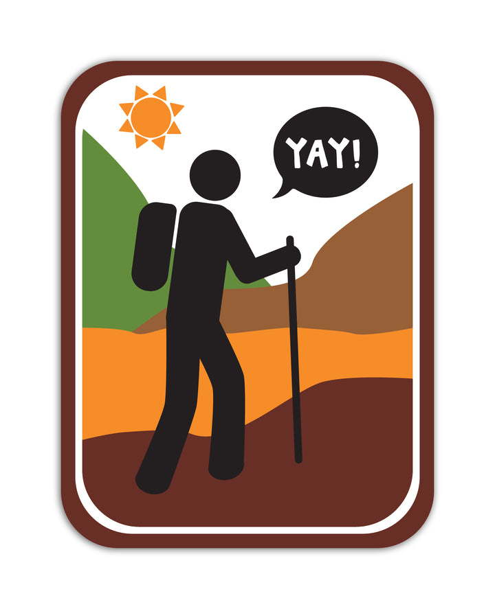 YAY! Picto Hiking! Sticker