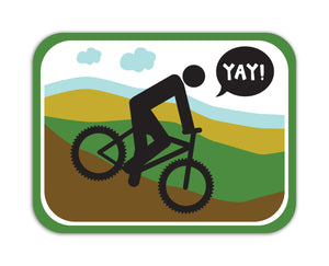 YAY! Picto Biking! Sticker