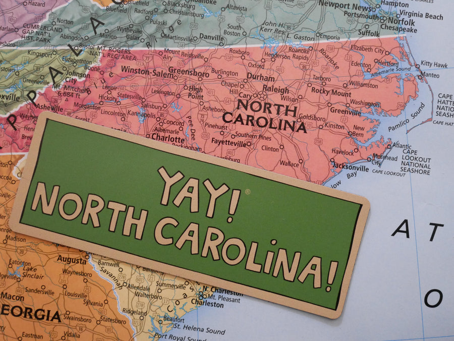 YAY! NORTH CAROLINA! magnet