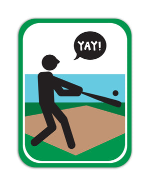 YAY! Picto Baseball! Sticker