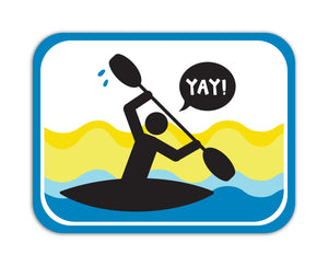 YAY! Picto Kayaking! Sticker