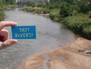 YAY! RIVERS! magnet