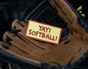 YAY! SOFTBALL! magnet