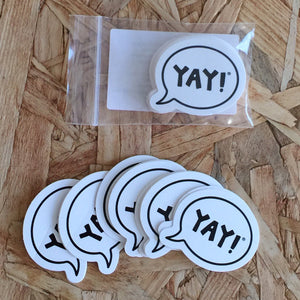 #yayitforward Mini YAY! Sticker Sticker