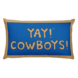 YAY! COWBOYS! Rectangular Pillow