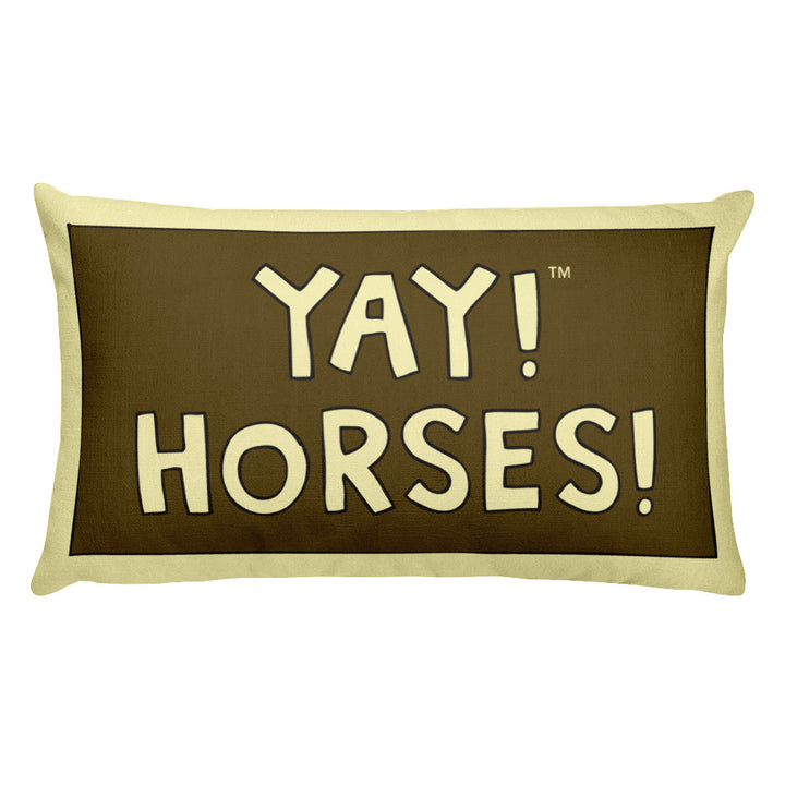 YAY! HORSES! Rectangular Pillow