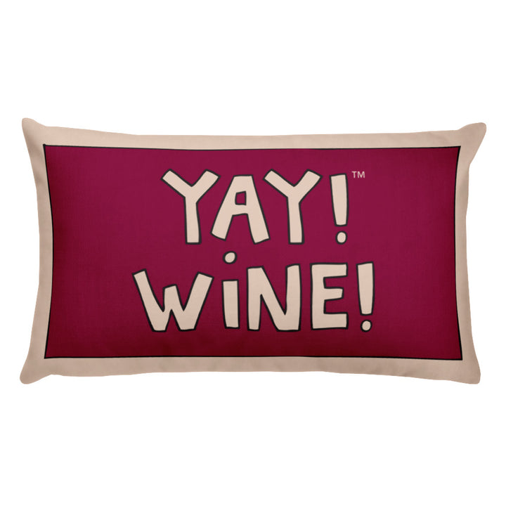 YAY! WiNE! Throw Pillow
