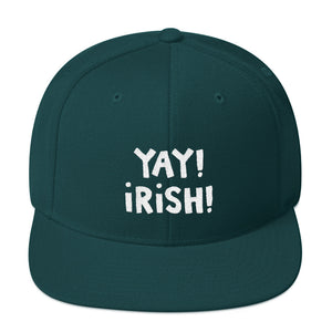 YAY! iRiSH! Snapback Hat with white embroidery