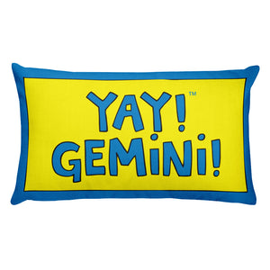 YAY! GEMiNi! Rectangular Pillow