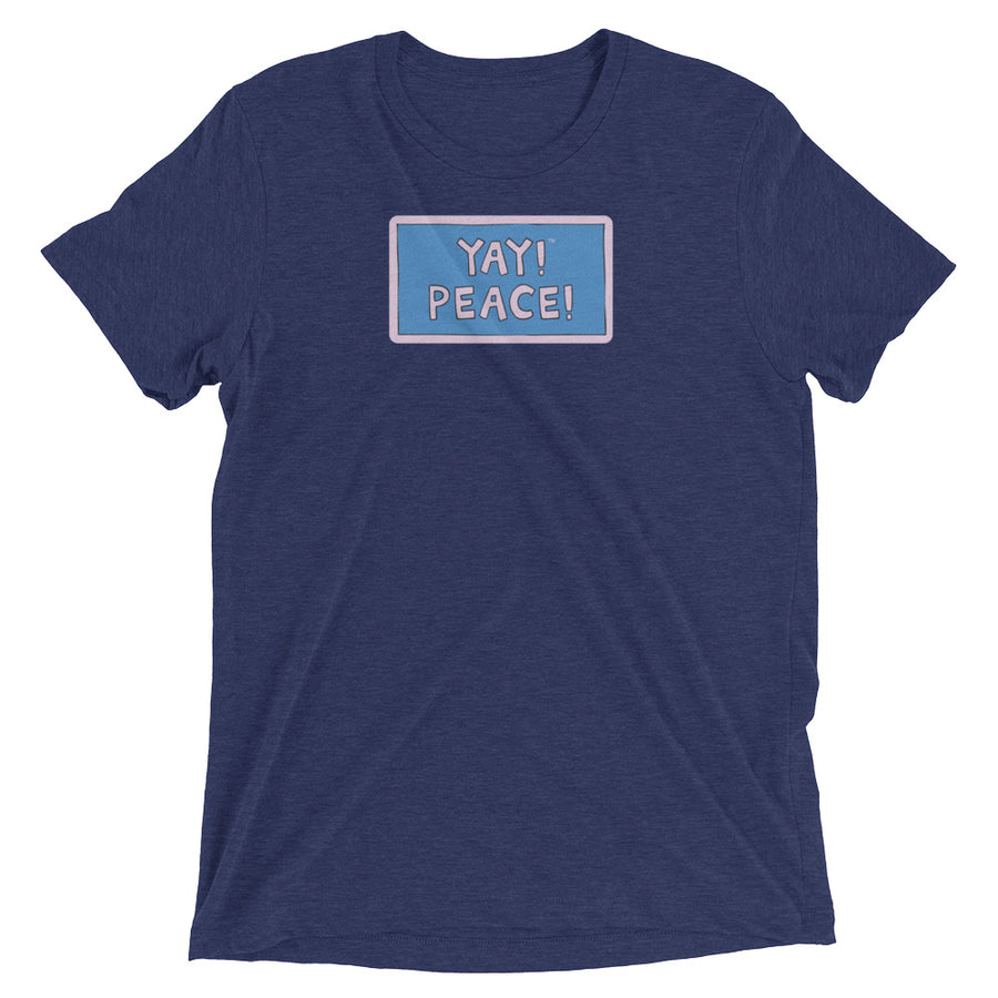 YAY! PEACE! Unisex short sleeve t-shirt