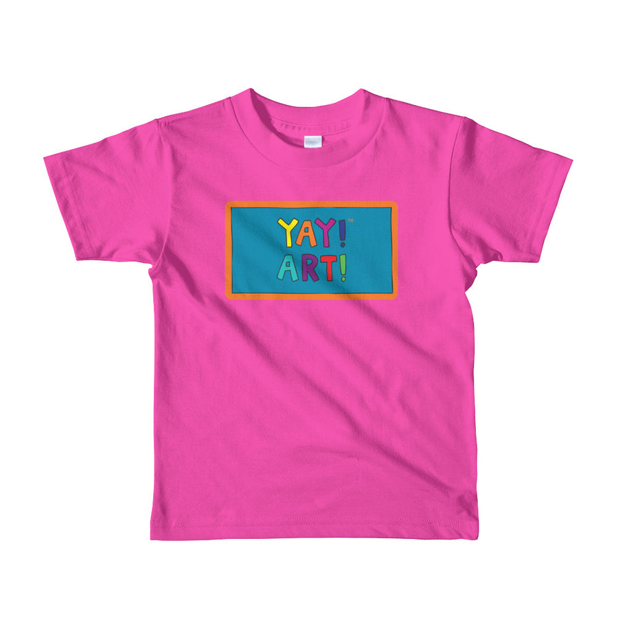 YAY! ART! Short sleeve toddler t-shirt