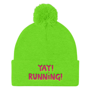 YAY! RUNNiNG! Pom Pom Knit Cap