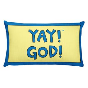 YAY! GOD! Rectangular Pillow