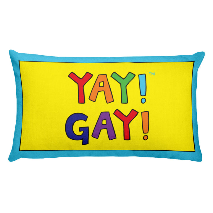YAY! GAY! Rectangular Pillow