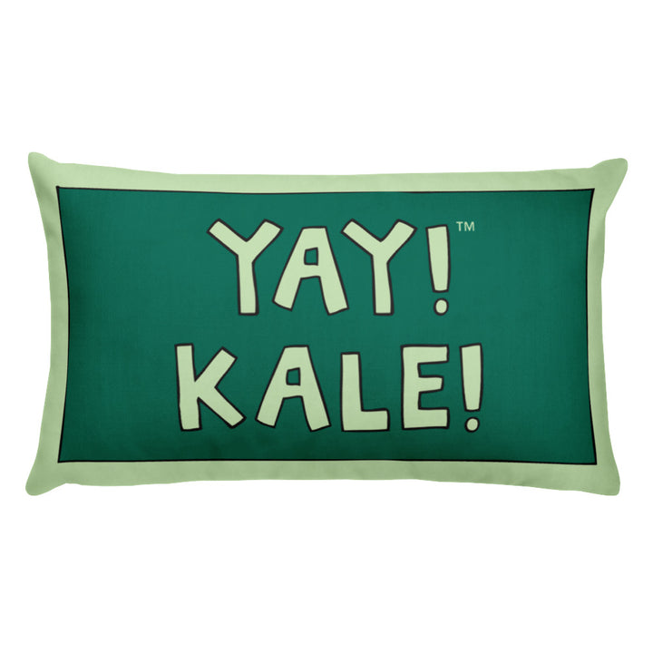 YAY! KALE! Throw Pillow