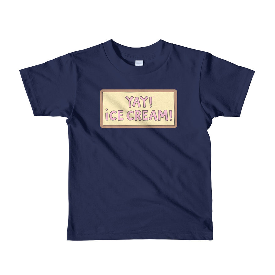 YAY! ICE CREAM! Short sleeve toddler t-shirt