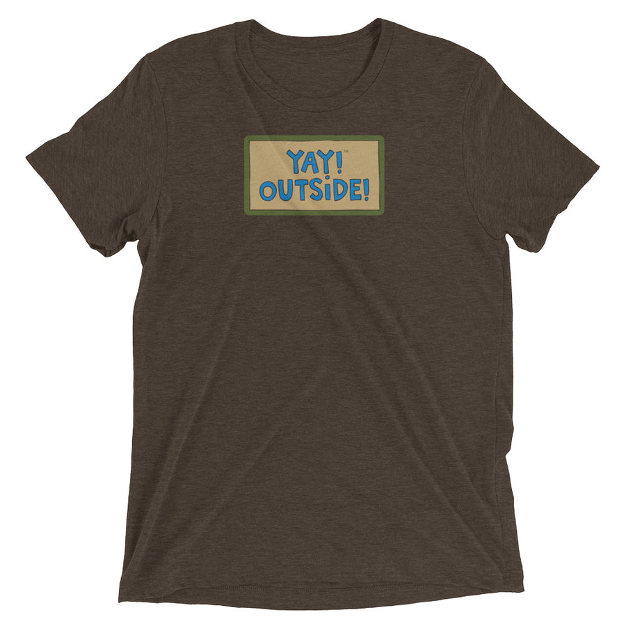 YAY! OUTSIDE! Unisex short sleeve t-shirt